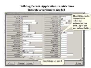 MGMS Building Application Dialog Box