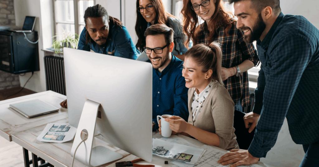 HR Team Reviewing Online HR Software
